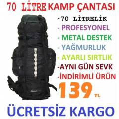 70 Litre Outdoor Da�c� B�y�k Boy S�rt �anta 70Lt