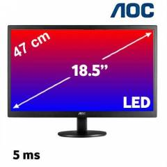 AOC 18.5 inc E970SWN 5MS LED MON�T�R PARLAK