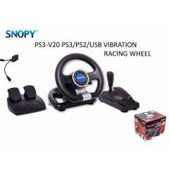Snopy V20 PC/PS2/PS3 Titre�imli 3 in 1 Direksiyo