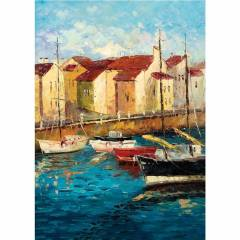 KS 500 Par�a Puzzle Sailboats On Waterfront