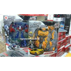 OPTIMUS PRIME ve BUMBLE BEE ROBOT 2 ADET B�RDEN