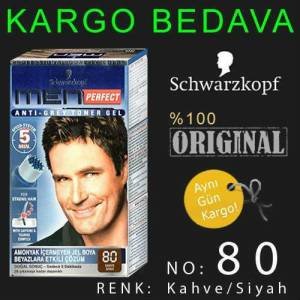 SCHWARZKOPF MEN PERFECT 80 KAHVE S�YAH JEL BOYA