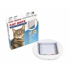Cat Mate Glass Fitting Cat Flap Beyaz Renk Kedi
