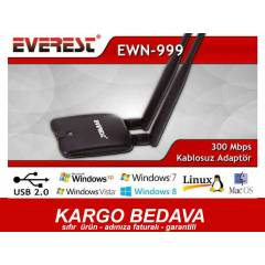 EVEREST EWN-999 USB W�RELESS ADAPT�R ��FT ANTEN