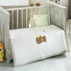 Kidboo Honey Bear Linen 4 Par�a Bebek Pike Tak�m