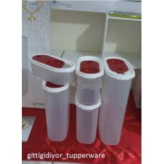 TUPPERWARE PREM�UM OVAL SET 5 L� ERZAK SAKLAMA