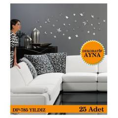 YILDIZ 1 MM - 25 ADET AYNA STICKER