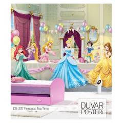 PRINCESSES TEA TIME DUVAR POSTER 178x126 cm