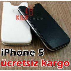 iPhone 5 %100 Hakiki Deri Kutu K�l�f +3Film