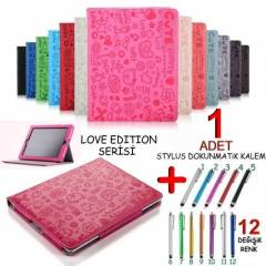 Apple iPad 2 KILIF DELUX DER� KILIF Love Edition