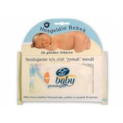 Uni Baby Islak Pamuk Mendil Yeni Do�an -Cotton N