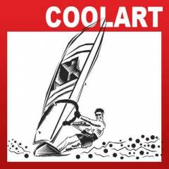 COOLART Duvar Sticker R�zgar S�rf Windsurf st624