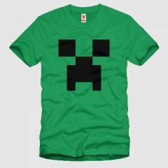 CRAZY Minecraft Creeper Face Erkek Ti��rt
