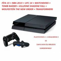 SONY PLAYSTATiON 4 PS4 + 2. DUALSHOCK 4 + 8 OYUN
