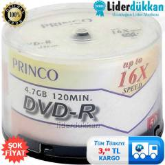 Princo Bo� DVD-R 16X 4.7GB 50 Adet Bo� CD DVD