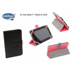 Addison IP-262 Siyah 7 Tablet Pc K�l�f� Standl�