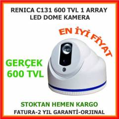 GER�EK 600 TVL DOME KAMERA 3,6 MM 1 ARRAY LED