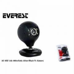EVEREST SC-802 S�YAH USB M�CROFONLU WEBCAM kamer