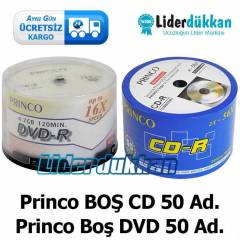 Princo 50 Adet Bo� CD-R + 50 Adet DVD R CD + DVD
