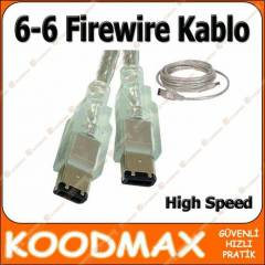 1394 Firewire IEEE 6-6 Pin Video Kamera Kablosu