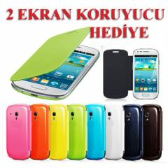 Galaxy S3 mini K�l�f i8190 Flip Cover