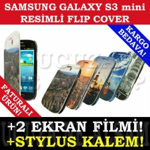 SAMSUNG GALAXY S3 mini KILIF FOTO FLIP COVER