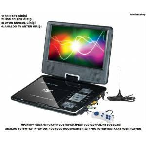 Tastech  Sl105 7.5�n� Portable  TV+FM+SD+USB+DVD