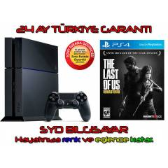 SONY PS4 500 GB + THE LAST OF US + 24 AY EURASIA