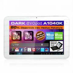 "Dark EvoPad A1040K 10.1"" Klavyeli 16GB Tablet"