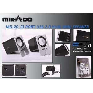 Mikado MD-20 2.0 3 Port Usb+SD+MS+M.SD Kart Oku