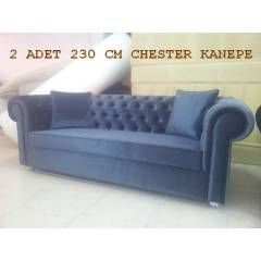 Chesterfield koltuk tak�m� 3 + 3 + 1 + 1