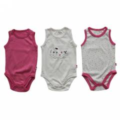 Baby Center 4034 K�z Bebek Atlet Body 3l� Koyu P