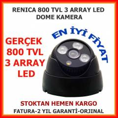 800 TVL 3 ARRAY LED GECE G�R��L� DOME KAMERA