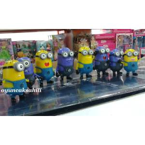 DespicableMe Tam 8 Adet Minion ��lg�n H�rs�z Set