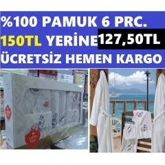 BORNOZ TAKIMI(A�LE SET�) ORJ. COTTON BOX MARKALI