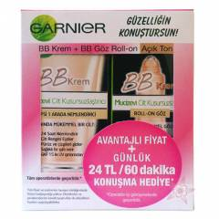 Garnier BB Krem + BB G�z Roll-on A��k Ton Set