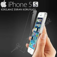 Apple iPhone 5 5S K�r�lmaz Ekran Koruyucu Film