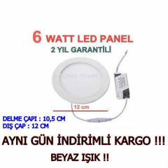 6 WATT LED SPOT - SL�M LED PANEL 6W BEYAZ I�IK