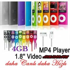 4 GB 1,8'' EKRAN MP3 MP4 M�Z�K PLAYER