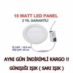 15 WATT LED PANEL -SL�M PANEL -LED SPOT G�NI�I�I