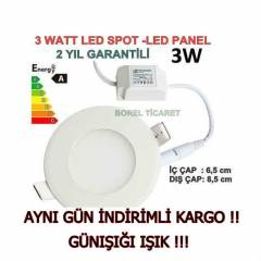 3 WATT LED SPOT - SL�M LED PANEL 3WATT G�NI�I�I