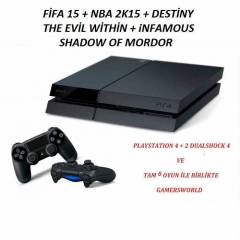 SONY PLAYSTATiON 4 PS4 + 2. DUALSHOCK 4 + 6 OYUN