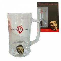 V for Vendetta 3D Rotating Mask Crystal Stein Ba