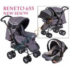 Beneto BT-655 Black �ift Y�nl� Travel Sistem Beb