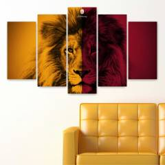 5 PAR�ALI GALATASARAY 258 KANVAS TABLO 110x60cm