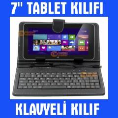 7 �n� Tablet Pc K�l�f� Klavyeli Tablet K�l�f�