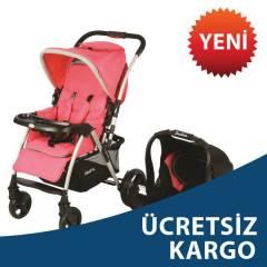 Kraft Cross Travel Sistem Bebek Arabas� Pembe