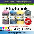 Pigment Photo ink 4 Kg 4 Renk m�rekkep