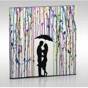 LOVE THE RAIN 60x60 cm Canvas Tablo