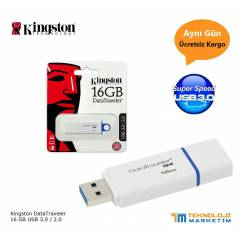 Kingston 16Gb DataTraveler USB 3.0 Flash Bellek